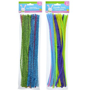 Colourful Easter Craft Tinsel Stems (a.k.a. Pipe Cleaners, Chenille Stems, Cure-pipes)