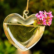 Glass Heart Plants Flower Vase Cute Modern, Simple And . Design Helps Beautify Purify Your House Or Office, A Good Decoration For You.