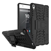 Sony Xperia XA Ultra Case,ARSUE [Premium Rugged] Heavy Duty Armour [Shock Resistant] Dual Layer with Kickstand Case for Sony Xperia C6 / XA Ultra / C6 Ultra Smartphone - Black