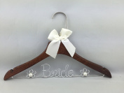 Wood Wedding Hanger Bridal Dress Hanger with Pearl Gifts