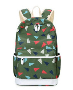 Teenage Girls Canvas Geometry Printing School Bag/ Laptop Backpack/ Travel Casual Daypacks