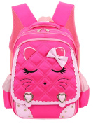 SellerFun Girl Cat Style 26.5L/19L Nylon School Bag Backpack