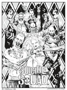 Colouring Poster - Suicide Squad - Wall Art 46cm x 60cm rpaz416