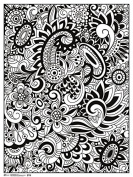 Colouring Poster - Modern Floral New Toys Gifts Licenced rpaz331