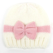 Tangc Newborn Infant Baby Girls Bow Bowknot Knit Crochet Cap Hat Cute Hat Prob Beanie
