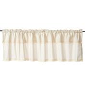 Charming Cotton Linen Lace Window Treatment Valances for Kitchen Bath Bedroom Living Room Home Decor 140cm x 41cm