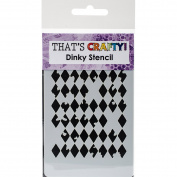 That's Crafty Dinky Stencil 7.6cm x 12cm -Distressed Harlequin Background