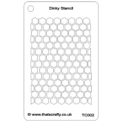 That'S Crafty Dinky Stencil 7.6cm x 12cm -Honeycomb Background