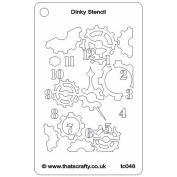 That's Crafty Dinky Stencil 7.6cm x 12cm -Geared Clock
