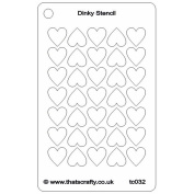 That's Crafty Dinky Stencil 7.6cm x 12cm -Hearts Background