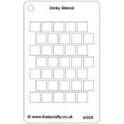 That's Crafty Dinky Stencil 7.6cm x 12cm -Offest Squares Background