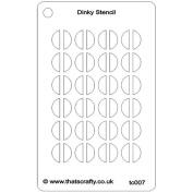 That's Crafty Dinky Stencil 7.6cm x 12cm -Half Circles Background