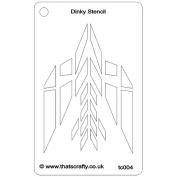 That's Crafty Dinky Stencil 7.6cm x 12cm -Abstract Bird