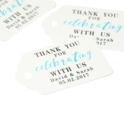 Custom Wedding Tag, Gift Wrap Tag, Personalised Wedding Favour Tags 50pcs