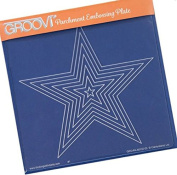 Groovi Parchment Embossing Plate - Nested Stars A5 - Laser Etched Acrylic for Parchment Craft