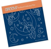 Groovi Parchment Embossing Plate - Moonfairy A5 - Laser Etched Acrylic for Parchment Craft