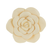 Mega Crafts 30cm Handmade Paper Flower in Ivory | For Home Décor, Wedding Bouquets & Receptions, Event Flower Planning, Table Centrepieces, Backdrop Wall Decoration, Garlands & Parties
