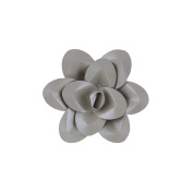 Mega Crafts 20cm Handmade Paper Flower in Silver | For Home Décor, Wedding Bouquets & Receptions, Event Flower Planning, Table Centrepieces, Backdrop Wall Decoration, Garlands & Parties