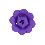 Mega Crafts 20cm Handmade Paper Flower in Purple | For Home Décor, Wedding Bouquets & Receptions, Event Flower Planning, Table Centrepieces, Backdrop Wall Decoration, Garlands & Parties