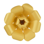 Mega Crafts 41cm Handmade Paper Flower in Gold | For Home Décor, Wedding Bouquets & Receptions, Event Flower Planning, Table Centrepieces, Backdrop Wall Decoration, Garlands & Parties