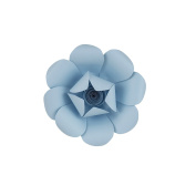 Mega Crafts 20cm Handmade Paper Flower in Aqua | For Home Décor, Wedding Bouquets & Receptions, Event Flower Planning, Table Centrepieces, Backdrop Wall Decoration, Garlands & Parties