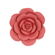 Mega Crafts 30cm Handmade Paper Flower in Coral | For Home Décor, Wedding Bouquets & Receptions, Event Flower Planning, Table Centrepieces, Backdrop Wall Decoration, Garlands & Parties