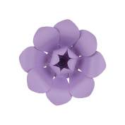 Mega Crafts 30cm Handmade Paper Flower in Lavender | For Home Décor, Wedding Bouquets & Receptions, Event Flower Planning, Table Centrepieces, Backdrop Wall Decoration, Garlands & Parties