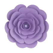 Mega Crafts 41cm Handmade Paper Flower in Lavender | For Home Décor, Wedding Bouquets & Receptions, Event Flower Planning, Table Centrepieces, Backdrop Wall Decoration, Garlands & Parties