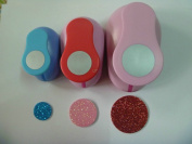 Fascola Set of 3pcs circle (2.5cm +3.8cm +5.1cm )craft punch set round Paper Punch Punch Craft Scrapbooking eva punches