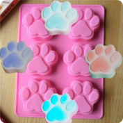 (3-Pack) Dog Cat Paw Print Silicone Bakeware Mould Chocolate Mould Cookie Candy Soap Resin