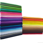flic-flac 42pcs 12 x 8 inches (30cmx20cm) 1.4mm Thick Soft Felt Fabric Sheet Assorted Colour Felt Pack DIY Craft Sewing Squares Nonwoven Patchwork