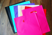 100 Pieces Small colourful Plastic Gift Bags colourful Plastic shopping bags 20x25cm