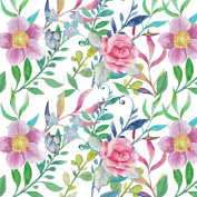 Best Wrapping Painted Floral Wrapping Paper 1.4sqm