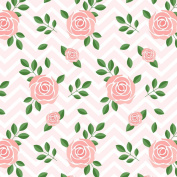 Best Wrapping Paper Pink Rose Flora with Chervon Background 1.4sqm