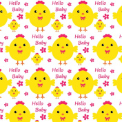 Best Wrapping Paper Hello to My Little Baby Wrapping Paper wiith Happy Yellow Chicken10.5sqm