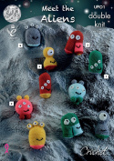 King Cole Crochet Double Knit Pattern Meet The Aliens Small Toys Dollymix DK