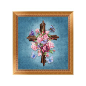 SCASTOE DIY 5D Religious Cross Embroidery Diamond Painting Cross Stitch Home Decor