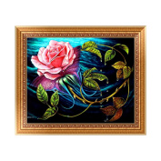 SCASTOE DIY 5D Diamond Embroidery Painting Cross Stitch Kit Flower Home Wall Decor
