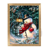 Julyshop 5D DIY Diamond Painting Snowman-Rhinestone Pictures Of Crystals Embroidery Kits Arts, Crafts & Sewing Cross Stitch