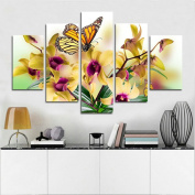 Blxecky DIY 5D Diamond Painting Cross Stitch Crafts Kit, 5 sets of splicing paintings. Home living room decoration. butterfly