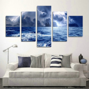Blxecky DIY 5D Diamond Painting Cross Stitch Crafts Kit, 5 sets of splicing paintings. Home living room decoration. Sea view