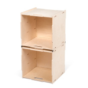 Two Unfinished Stackable Storage Cube Organisers, American Made - By Sprout