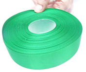 Green Satin Ribbon. High End Double Face Spool. 2.5cm 50 Yards Roll by Drency Ribbons