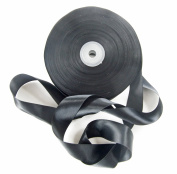 Black Satin Ribbon. High End Double Face Spool. 2.5cm 50 Yards Roll by Drency Ribbons