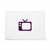 Television Style 4488, Rubber Stamp Shape great for Scrapbooking, Crafts, Card Making, Ink Stamping Crafts