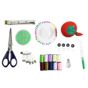 Beginners Starter Sewing Kit With essential pins thread needle in carry case by Curtzy TM