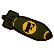 """""""F-Bomb"""" PVC Hook and loop Morale Patch"""