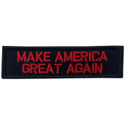 Make America Great Again Rear Hat Hook and loop Patch - Red & Black