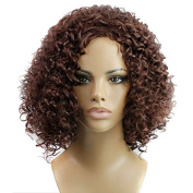 Aoert Hair Replacement Curly Wigs Short Heat Resistant Synthetic Wigs for Women 36cm