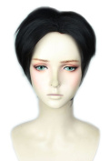 Topcosplay Short Cosplay Wig Halloween Costume Black wig